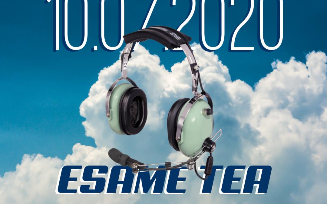 SESSIONE ESAME TEA – 10 LUGLIO 2020