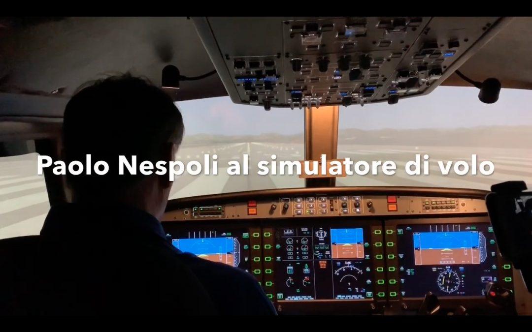 L'astronauta Paolo Nespoli a VOLANDIA prova il nostro simulatore